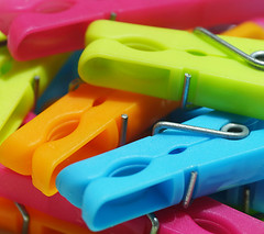 Clothes pegs (judith511) Tags: flickrlounge weeklytheme householdmacrocloseup pegs clothespins colourful plastic