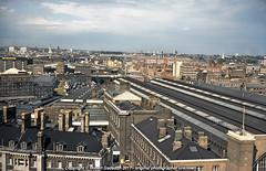 1975 - Kings Cross - From the Tower.. (Robert Gadsdon) Tags: 1975 kingscrossstation aerialview fromstpancrastower skyline