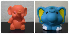 O velho e o novo. O meu e o da minha filha. (gomides1) Tags: elephant elefante toy brinquedo