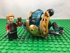 2017-120 - Guardians Vol. 2 (Steve Schar) Tags: 2017 wisconsin sunprairie iphone iphone6s project365 lego minifigure babygroot starlord peterquill goldendrone spaceship