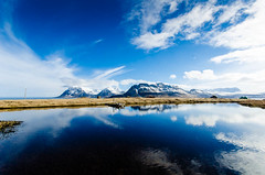 Mountain (orkell) Tags: sky mountain mountains reflection water clouds vestfirir strandir nikond7000