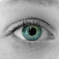 iEye (photo by marko) Tags: portrait bw colour eye 35mm nikon naturallight nikkor ieye 2013 d7000 nikond7000 photobymarko