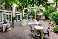 main courtyard at the Hotel Mazarin (New Orleans Hotel Collection) Tags: usa architecture hotel la us neworleans courtyard frenchquarter