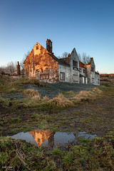 Ruins of Pub (Shahid A Khan) Tags: old reflection building architecture rural buildings photo pub ruins flickr image britain stock nobody british derelict goldenhour huddersfield greatermanchester delipidated shahidakhan sakhanphotography