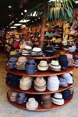 This Is A Really Cool Shop - And Not A T-Shirt To Be Seen (alternate_world) Tags: neworleans frenchquarter hatshop panamahats