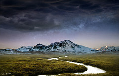 Barrage (Jean-Michel Priaux) Tags: sky cold nature grass night clouds photoshop river season stars landscape curve paysage montain savage terrific plaine priaux