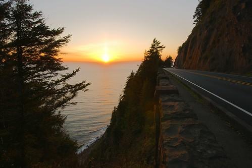 Couché de soleil dans l'Oregon