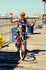 Havin' fun! (judecat (it's all in the Nature of things)) Tags: me bike fun boardwalk judy wildwood cyndilauper junejulyjukebox