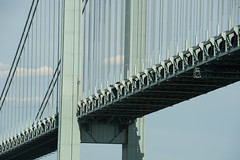 Verrazano Narrows Bridge (glidergoth) Tags: usa ny newyork sailing harbour yacht manhattan nj verrazanonarrowsbridge