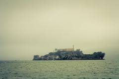 The Rock (derekbruff) Tags: sanfrancisco morning bay foggy alcatraz