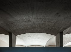 Eduardo Torroja. Zarzuela racetrack stands #6 (Ximo Michavila) Tags: madrid light shadow white abstract geometric architecture racetrack concrete spain graphic interior curves perspective stands zarzuela architecturephotography archidose eduardotorroja archdaily archiref ximomichavila