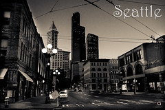 Seattle Old time (Ania Csar Winiarek) Tags: seattle usa architecture postcards bigcity urbanlandscape smithtower 2013