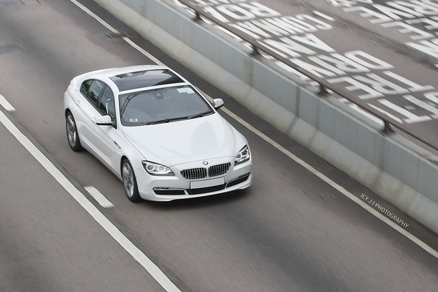6 white car hongkong hong kong bmw series gran coupe supercar 640