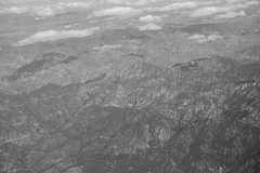 Rockies (betsylaw_) Tags: bw mountains rockies aerialview land geography