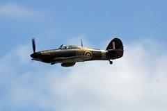 Hawker Hurricane Mk.XIIA Cleethorpes 2013 (Steve Dawson.) Tags: uk england canon eos fighter hurricane north july lincolnshire east airshow usm ef cleethorpes hawker 5140 400mm 50d 2013 f56l hurri ef400mmf56lusm canoneos50d mkxiia