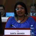 Asambleísta, Santa Obando, en la sesión No.- 245 del Pleno de la Asamblea Nacional thumbnail
