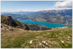 Lac de Serre Ponon (marieF.be) Tags: france alpes canon lac 1022 morgon randonne serre 550d ponon