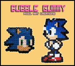 Sonic (Bubble Gummy pixel art) Tags: sonic videogames videogame videojuego videojuegos hamabeads perlerbeads bubblegummy bubblegummypixelart