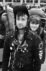 Punk (roberthenryaa) Tags: street new york city nyc white ny black robert film tattoo 35mm square punk manhattan homeless union piercing henry tramp roberthenry