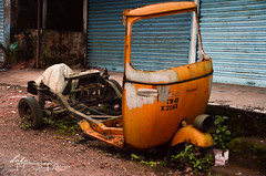 Dead Auto is home for lot of plants (Uma DotC) Tags: auto travel plants green nature go recycle chennai sustainable reuse valpaarai
