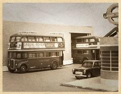 Black & white models (kingsway john) Tags: black white model 176 scale bus tram london transport amersham garage londontransportmodel diorama oo gauge miniature