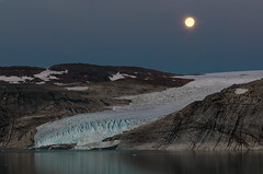 Svartisen glacier (Andrey Bondarev) Tags: moon norway norge north full svartisen