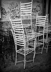 chairs (big andrei) Tags: leica bw downtown chairs cyprus nicosia m82 28mm28 elmaritm