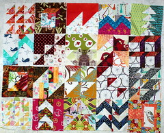 all the HSTs and one of my favorite from the first group blocks (PersimonDreams) Tags: blocks quiltalong tulapink tula100 moderncitysampler