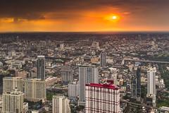 Big city. (Tanatat pongpibool) Tags: city travel sunset red thailand nikon cityscape bangkok traveller d800 citynight