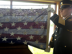 Day 227 My father's flag (Dragon Weaver) Tags: flag military pad funeral american service aug veterans 0815