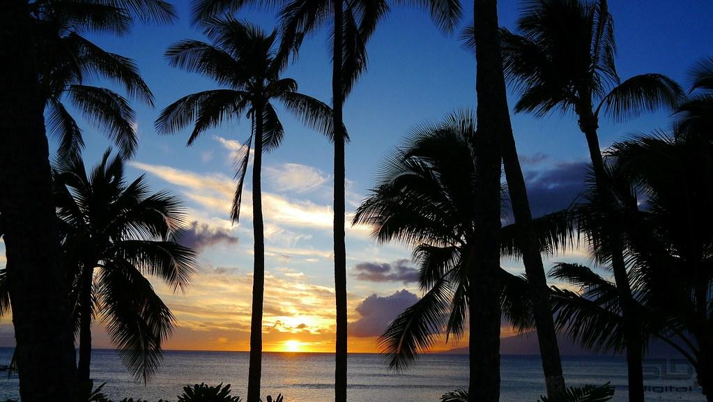 d43b31e2d75 Napili Bay Sunset (SLDdigital) Tags  travel trees sunset sky usa sun  seascape beach. Maui - Island View From The Pacific ...