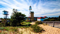Whitefish Point Light Station HDR (hz536n/George Thomas) Tags: autumn summer sky lighthouse fall canon lab michigan september canon5d upnorth whitefishbay lakesuperior hdr whitefishpoint smrgsbord ef1740mmf4lusm 2013 cs5 photomatix40