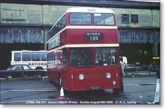 PMT Leyland Atlantean L9766,  766 EVT,  Canon's Marsh,  Bristol,  Sunday August 19th 1979. (Bristol RE) Tags: bristol leyland potteries weymann canonsmarsh pmt atlantean potteriesmotortraction 766evt l9766