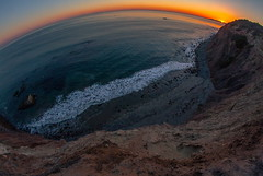 Dana Point (rileymauk) Tags: ocean california sunset sea sky cliff art beach nature water digital canon landscape photography rebel coast scenery waves view scenic wideangle lookout fisheye socal orangecounty dslr danapoint xsi cliffside 450d