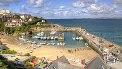 The View From The Fort Inn, Newquay. (pborsey) Tags: uk england people public clouds cornwall harbour newquay hdr 2013 hdrphotography harbourscene