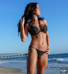 Beautiful Brunette Surf Girl Bikini Swimsuit Model Goddess@ Manhattan Beach! Pro Body Builder! (45SURF Hero's Odyssey Mythology Landscapes & Godde) Tags: legs manhattan abs calves quads amazinglyscupltedandtonedbody