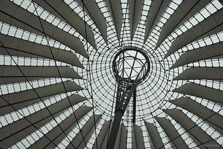 Berlijn, dak Sony Center Potsdamer Platz