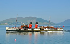 A fine sight on a warm summers day paddle steamer waverley cruising the clyde area this was her approahing Rothesay, please do not use my photos without my permission (Time Out Images) Tags: scotland clyde argyll isle bute rothesay buoyant pswaverley