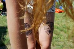 Tiger Legs (Leah Borchert) Tags: summer hair legs lace tiger tattoos manitoba folkfest winnipegfolkfestival