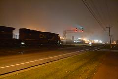 Gooooooo! (pentaxH2) Tags: fog cnrail midwestrails