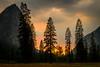 Smokey Sunset (Kayla Stevenson) Tags: california usa sky yosemite valley national park cathedral peaks yosemitevalley sunset yosemitenationalpark cathedralpeaks