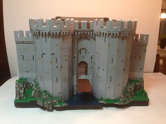 Towngate (Jesperallen) Tags: roof tower castle wall gate lego wip portcullis seawatch loophole crenelations vision:text=0624 vision:outdoor=0756