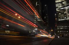 5th avenue,  nyc light trails (photo no. 5) - unedited --------- viewed 166x (norlandcruz74) Tags: new york city nyc light usa ny night lights us nikon long exposure trails cruz avenue 5th norland d5100