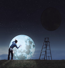 290/365 - Cleaning Crew (loganzillmer) Tags: moon night surreal fineartphotography surrealphotography conceptualphotography conceptualimage flickr12days