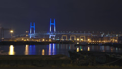Yokohama Bay Bridge (DigiPub) Tags: bridge japan explore nightview yokohama onsale  japon  gettyimages   yokohamabay yokohamabaybridge  456751113