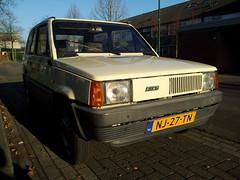 1985 Fiat Panda 34 (Skitmeister) Tags: auto holland classic netherlands car vintage automobile voiture oldtimer niederlande classique klassiker pkw  klassieker  carspot skitmeister nj27tn sidecode4