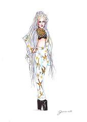 Versace Dreadlocks (G-nuinart) Tags: girl fashion dreadlocks lady hair 1 design drawing moda designs dibujo diseo versace gaga rastas 2014 genuina 2013 genuino