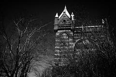 Castle-like (blondinrikard) Tags: blackandwhite bw building tower göteborg noiretblanc watertower torn hus brickbuilding svartvit landala byggnad vattentorn tegelbyggnad gbgftw