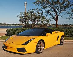 Lambo Gallardo Spyder (Infinity & Beyond Photography) Tags: car yellow westpalmbeach spyder exotic lamborghini supercar gallardo worldcars