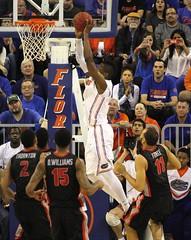 Will Yeguete made Dunk. Assisted by Dorian Finney-Smith (dbadair) Tags: basketball georgia florida gators uga sec bulldogs uf odome 2014